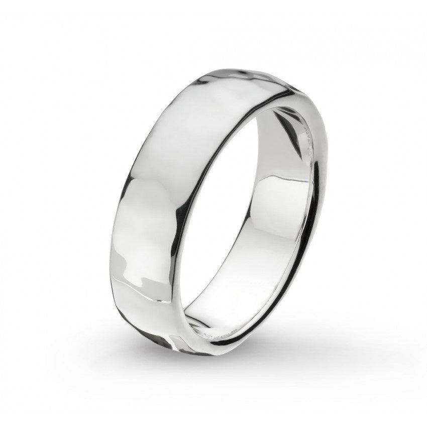 Kit Heath - Pebble Coast, Sterling Silver 6mm Ring, Size P