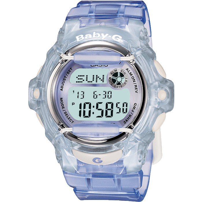 Casio - Baby G, Blue Shock Resistant Multi Functional Watch