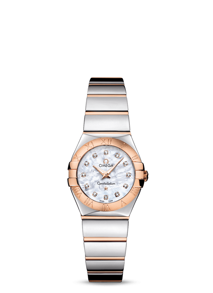 Omega, Constellation Quartz 24mm Watch 123.20.24.60.55.003