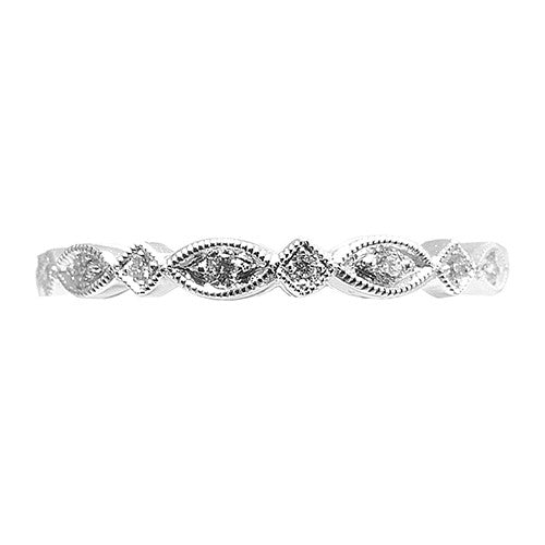 18ct White Gold & Diamond Eternity Ring