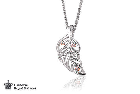 Clogau - Debutaunte, Silver and Welsh Gold Feather Pendant