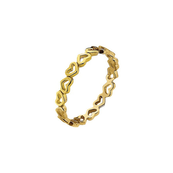 Virtue - Alternative Heart, Yellow Gold Plated Open Ring