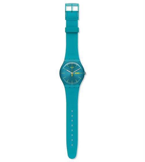 Swatch - Turquoise Rebel, Plastic Watch