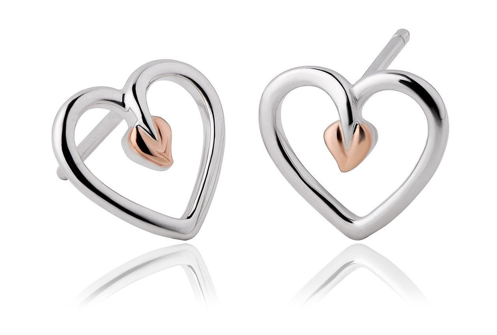 Clogau - Tree of Life, Silver/Rose Gold Plate Stud Earrings