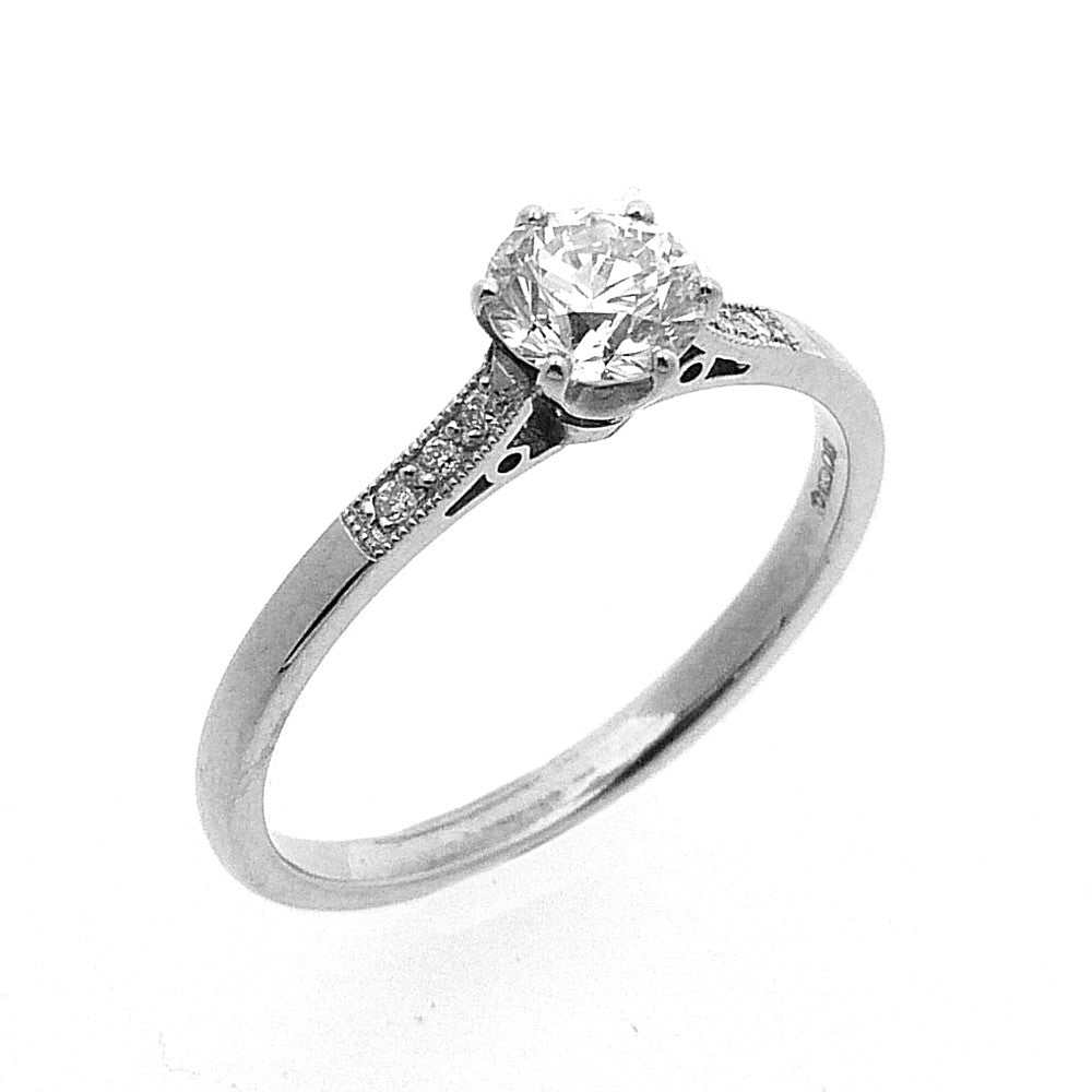 Solitaire Ring, Set with 0.50ct. Diamonds in 18ct. White Gold