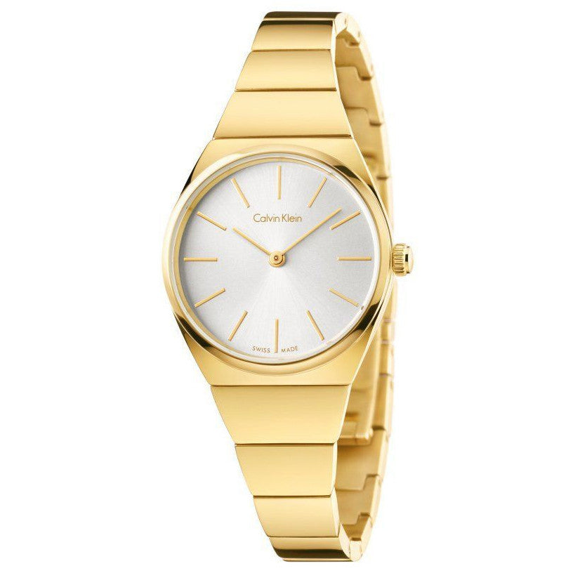 Calvin Klein - Ladies' Supreme, Yellow Gold Plated Silver Dial Watch