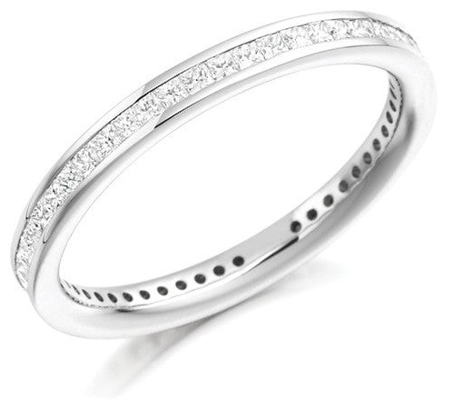 Princess Cut Diamond Full Eternity Ring