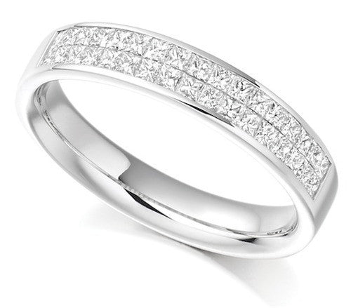 Princess Cut Diamond Half Eternity Ring