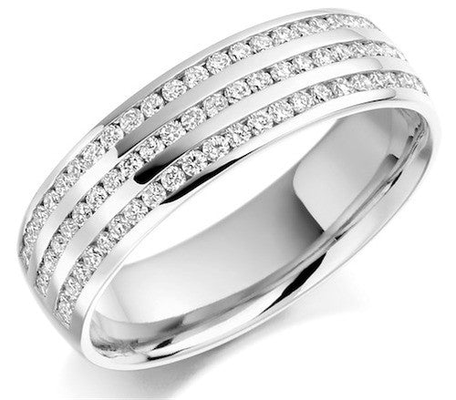 Round Brilliant Cut Diamond Half Eternity Ring