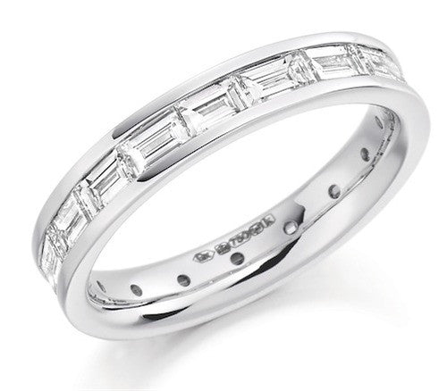 Baguette Cut Diamond Full Eternity Ring