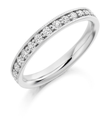 Round Brilliant Cut Diamond Full Eternity Ring