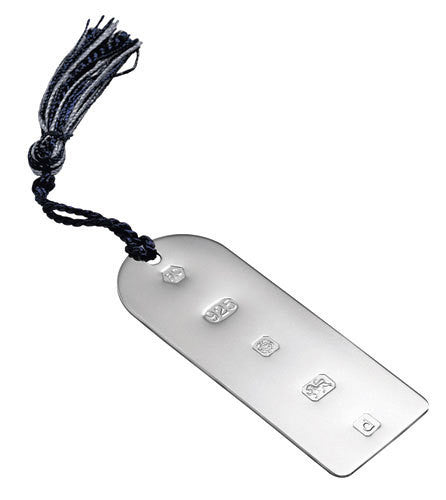Carrs Silver - Sterling Silver Feature Hallmark Bookmark with Tassel