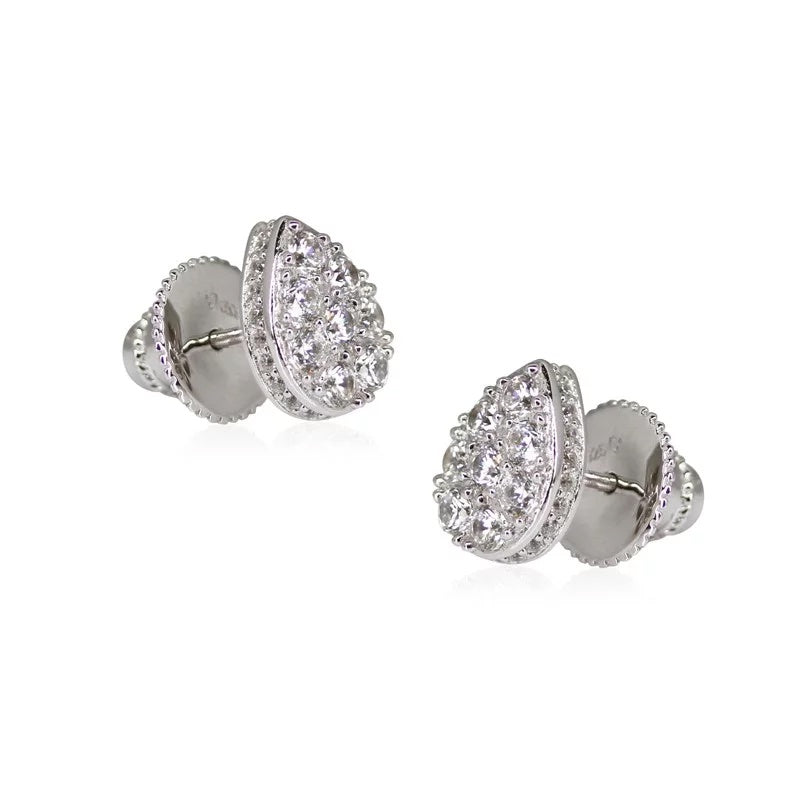 Carat London - C/Z Set, Silver Stud Earring
