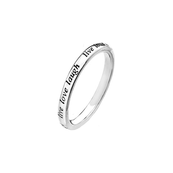 Virtue - Sterling Silver Live Love Laugh Ring