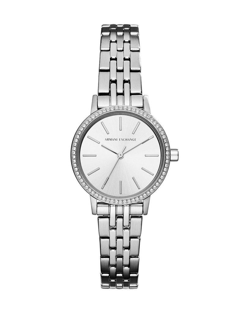 Armani Exchange - Swarovski Crystal Set, Stainless Steel Watch