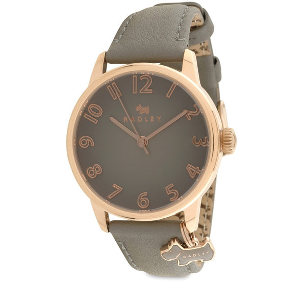 Radley - Blair, Rose Gold Plate Leather Strap Watch