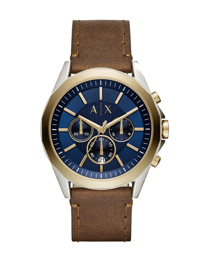 Armani Exchange - Chronograph Leather Strap Watch