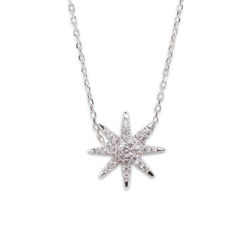 Carat London - Atrias, Cubic Zirconia Set, Silver Pendant and Chain