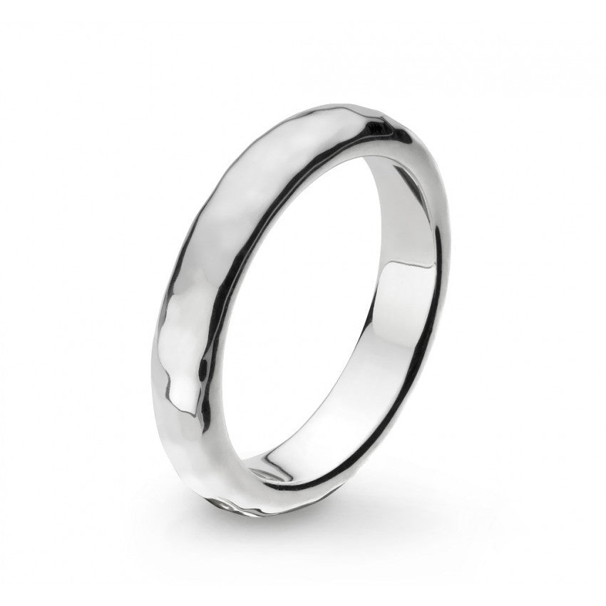 Kit Heath - Pebble Coast, Sterling Silver 4mm Ring, Size N