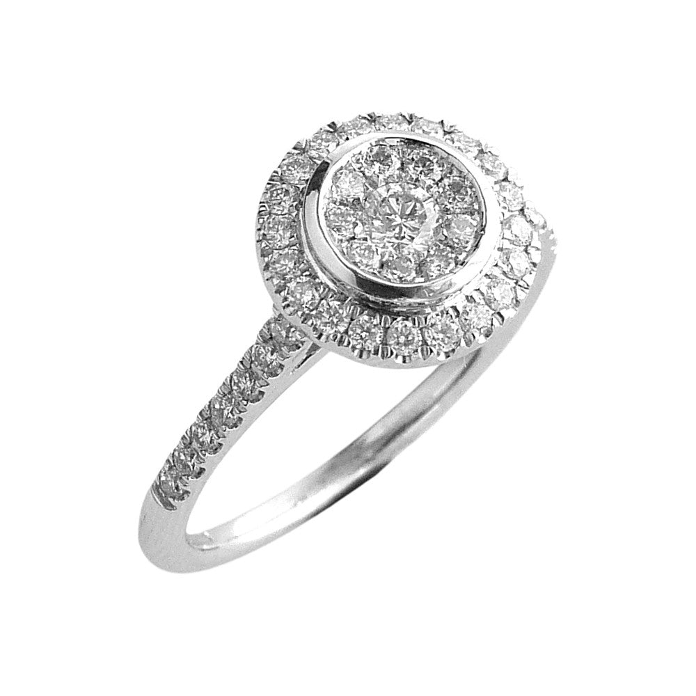 18ct. White Gold and Diamond, Cluster Ring.