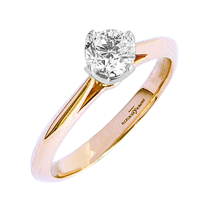 18ct. Rose Gold and Diamond Solitaire Engagement Ring.