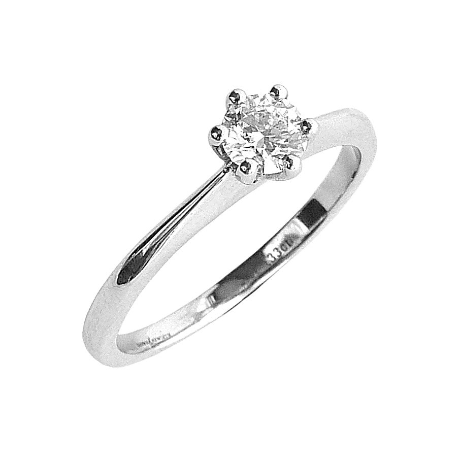 Palladium and Diamond Solitaire Ring.