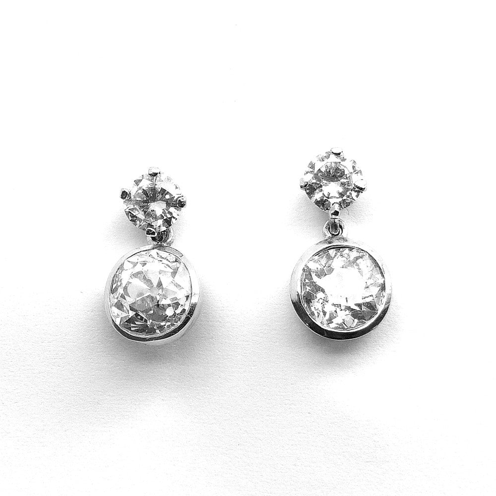 Drop Earrings, Diamond Set