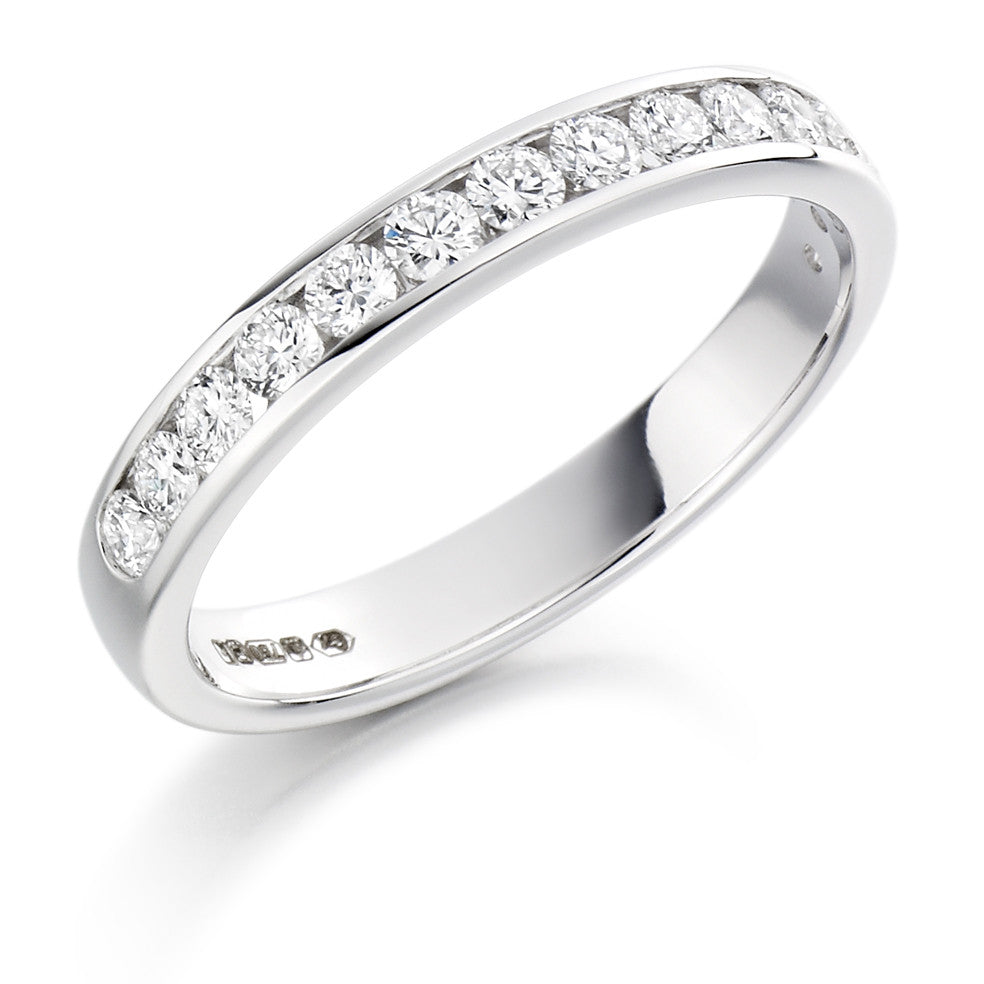 The Raphael Collection - Half Eternity Ring, Diamond Set - 0.50ct.
