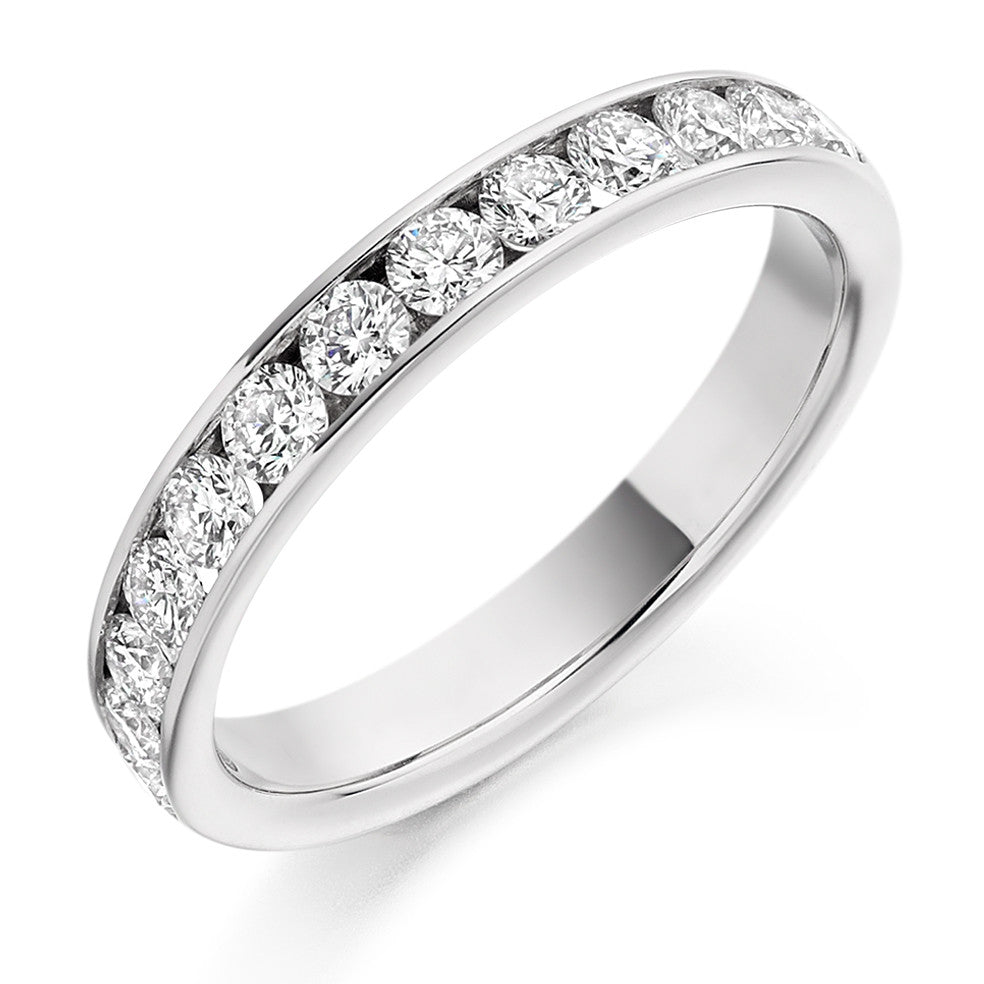 The Raphael Collection - Half Eternity Ring, Diamond Set - 0.75ct.