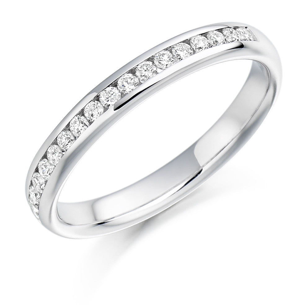 The Raphael Collection - Half Eternity Ring, Diamond Set - 0.22ct.