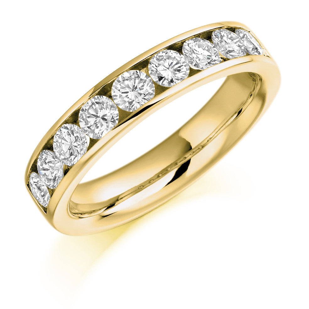 Eternity Ring Wedding Set: Half Eternity Ring, Diamond Set