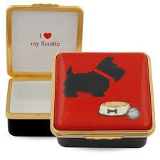 Halcyon Days - I Love My Scottie, Enamel Pill Box