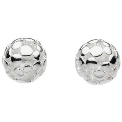 Kit Heath - Champagne, Sterling Silver Stud Earrings