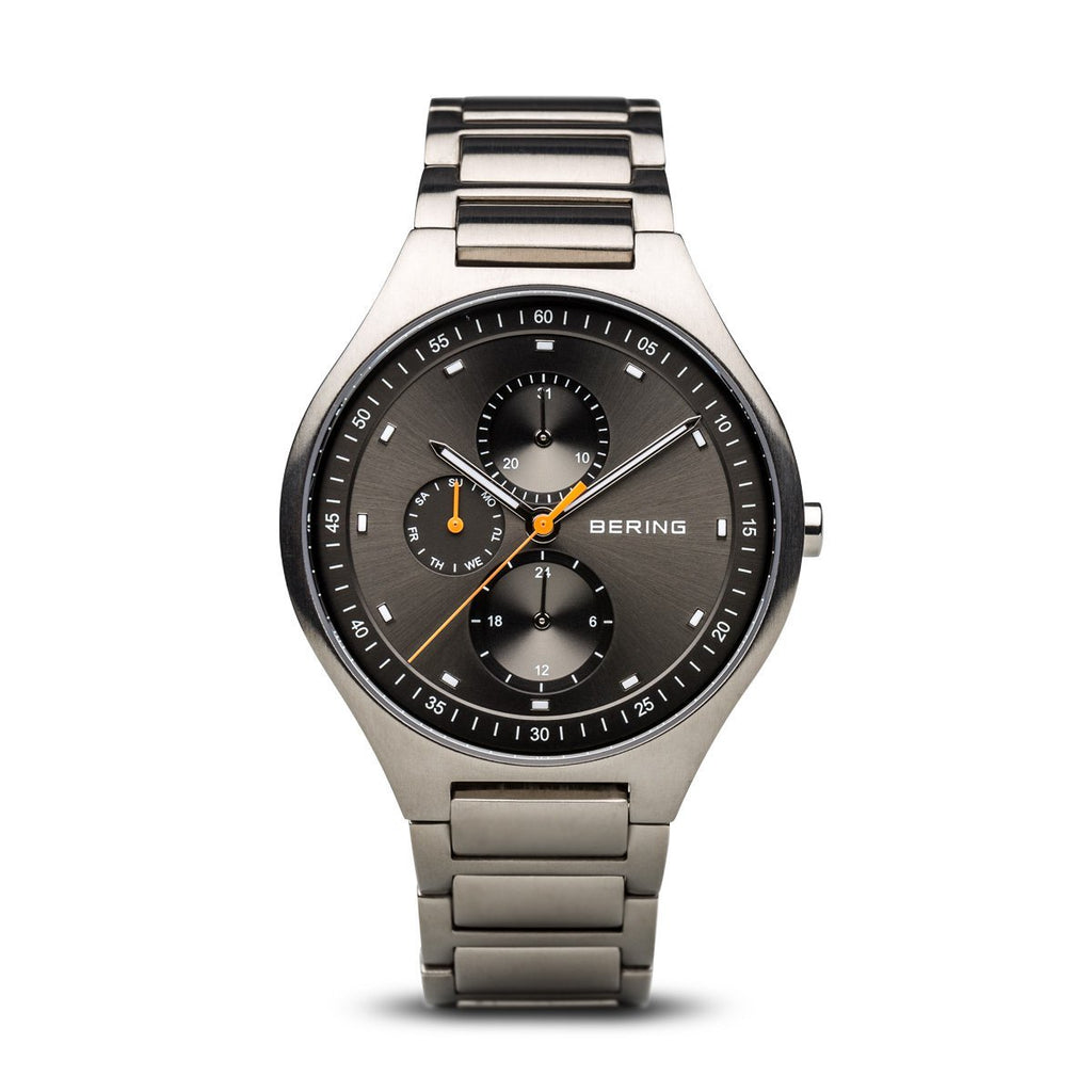 Bering - Men's, Titanium Black Dial Chronograph Watch