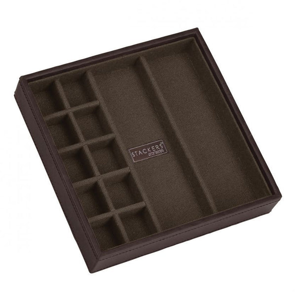 Stackers - Brown Square Cufflink Layer