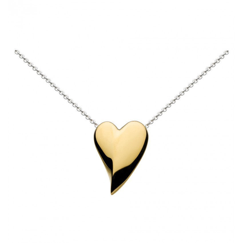 Kit Heath - Lust, Sterling Silver and 18ct. Yellow Gold Plate Heart Necklace, Size 18""