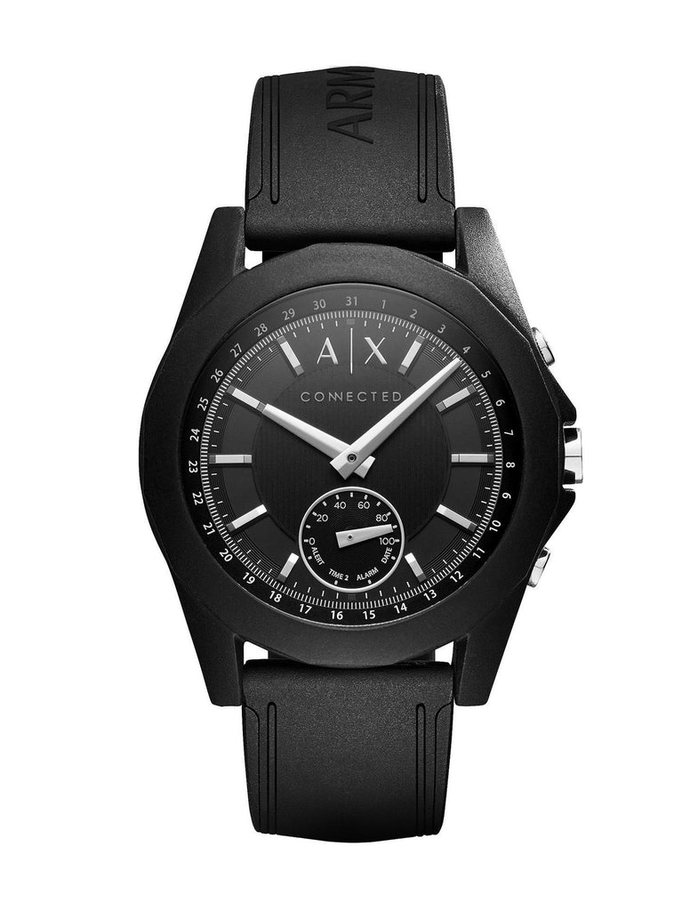 Armani Exchange - Connected, Black Silicone Hybrid Smart Watch