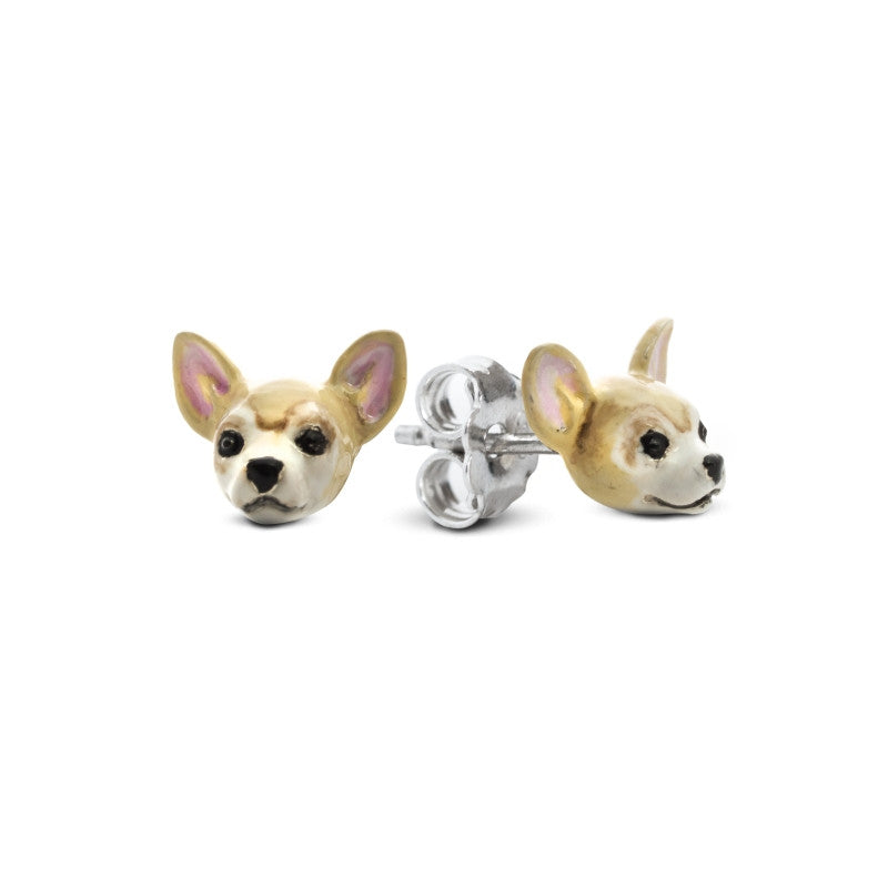Dog Fever - Chihuahua - Earrings in Sterling Silver and Enamel