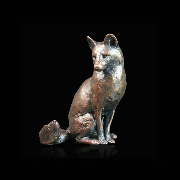 Richard Cooper - Bronze Fox Sitting Ornament, Size 5cm