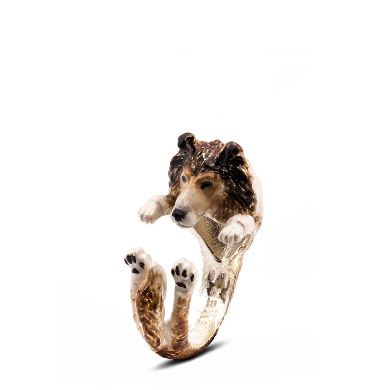 Dog Fever - Collie - Dog Ring in Sterling Silver and Enamel
