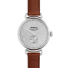 Shinola - Canfield , Dark Cognac Leather Strap Silver Dial Watch, Size 38mm