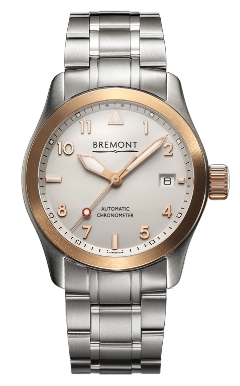 Bremont - SOLO-37/RG/BR 18ct. Rose Gold Watch