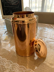 copper tea caddy