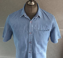 Load image into Gallery viewer, Topman Blue Short Sleeved Shirt