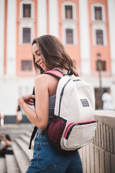Morral ECO Blanco - Rojo