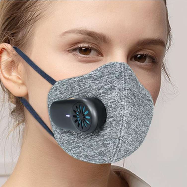 Fan-Powered Face Mask - Motorized Fan Air Purifier Masks are Reusuable with KN95 Mask & PM2.5 Air Filters - NEW ARRIVAL