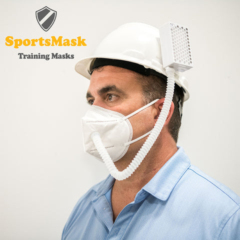 SportsMask Airflow Fan Ventilation Training Masks, 3-Speed Motorized Ventilator Air Purifier Fan Face Mask, LYFY-Sports-Mask - lyfy.co