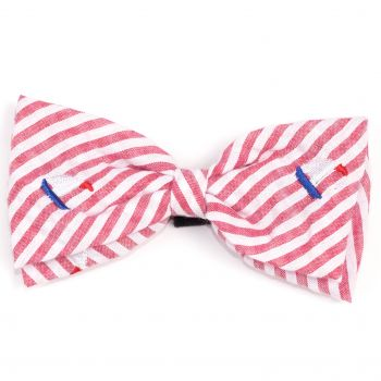 Red Sailboat Bow Tie