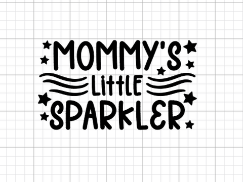 Mommy's Sparkler Decal Add-On