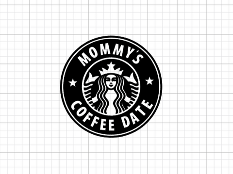 Mommy's Coffee Date Decal Add-On